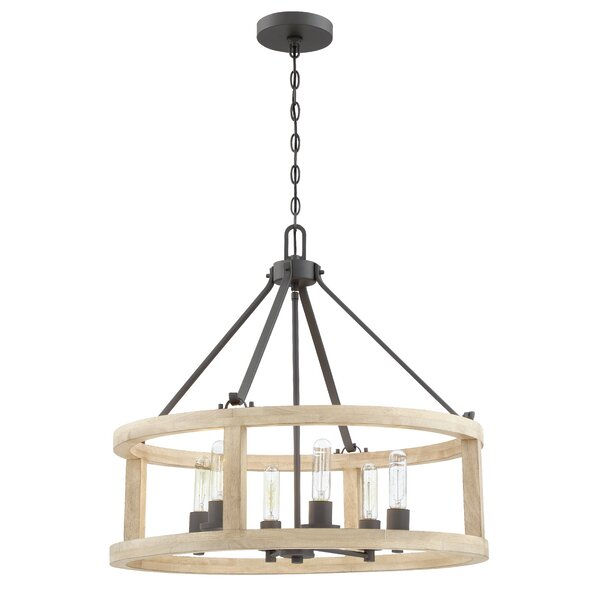 Maranda 6-Light Candle Style Drum Chandelier by Union Rustic Union Rustic