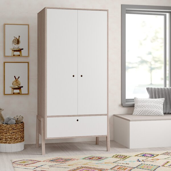 Chisley 2-Door Childrens Wardrobe Armoire by Mack & Milo