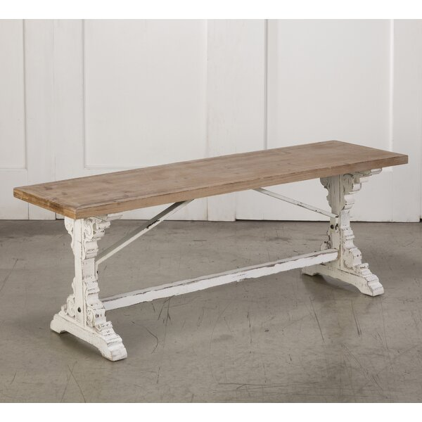 Wight Farmhouse Style Wood Bench by Ophelia & Co.