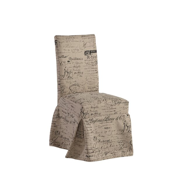 Naoma Script Slipcovered Upholstered Dining Chair by Ophelia & Co. Ophelia & Co.