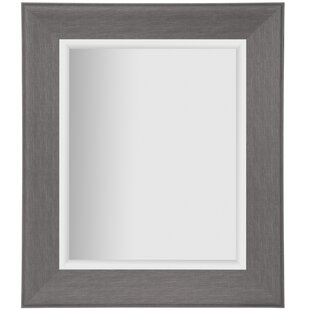 Gracie Oaks Tryphosa Woodgrain Framed Beveled Full Length Mirror