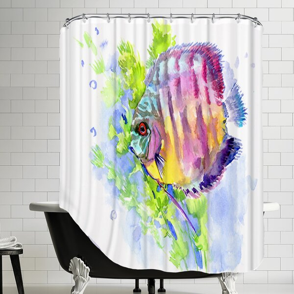 Discus Shower Curtain by East Urban Home