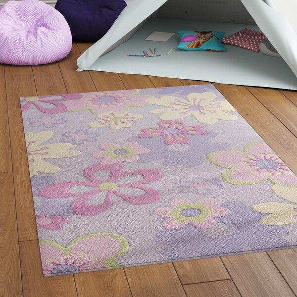 LeVar Hand-Tufted Pink/Purple Area Rug by Viv + Rae