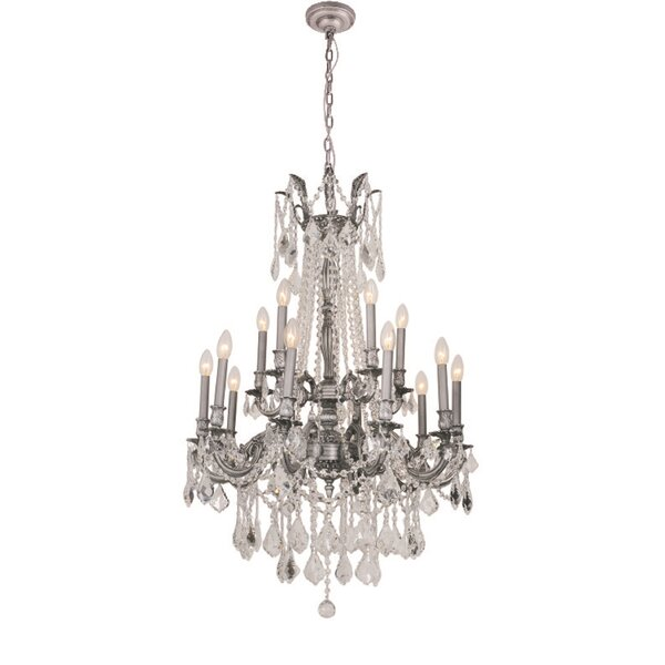 Angola 12-Light Candle Style Chandelier by B&S Lighting