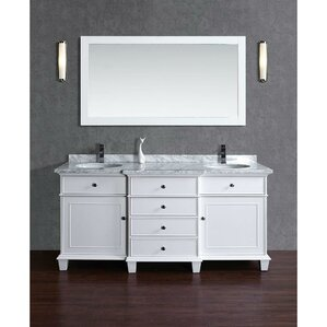 Dixie 72 Double Bathroom Vanity Set With Mirror