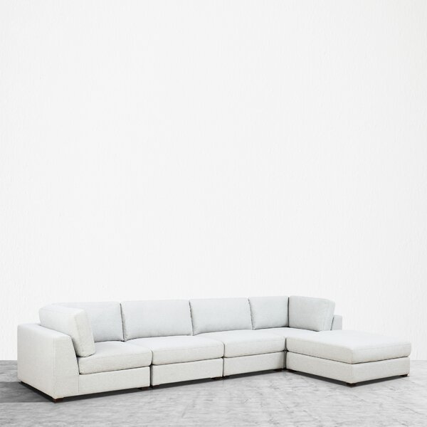 Kendrick Reversible Modular Sectional With Ottoman By Orren Ellis Modern