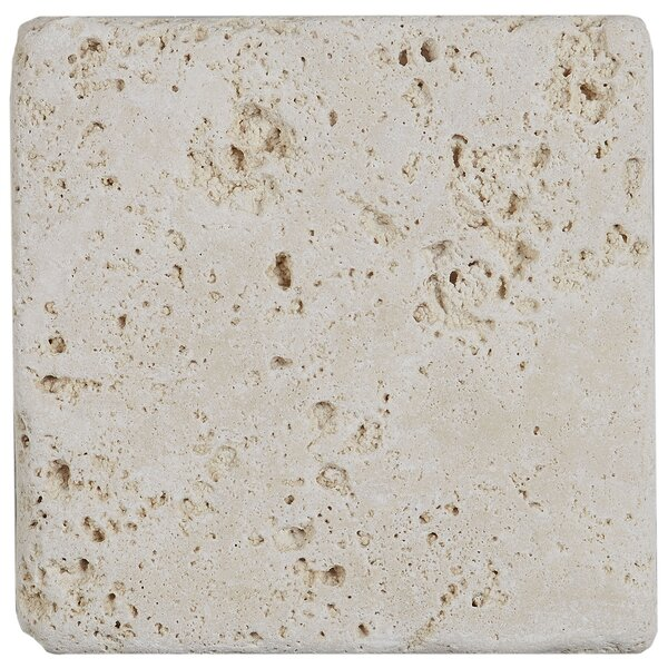 Hopkins 4 x 4 Travertine Field Tile in Ivory Classico by Itona Tile