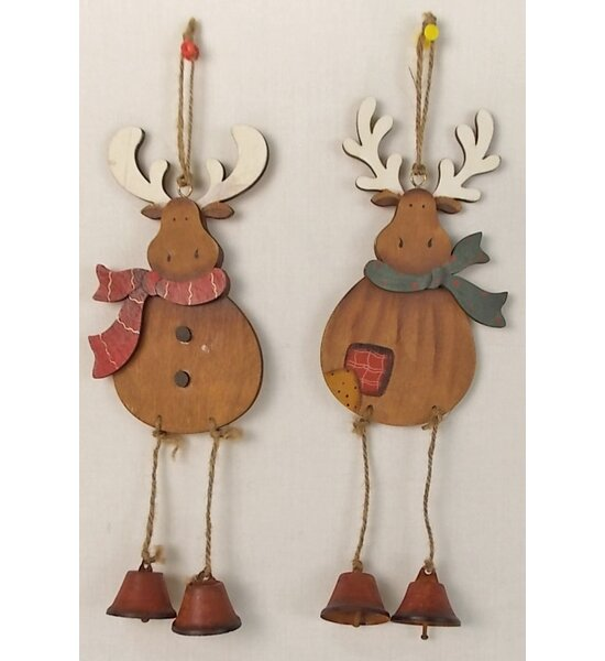2 Piece Hanging Reindeer Lawn Art Set by Craft Outlet