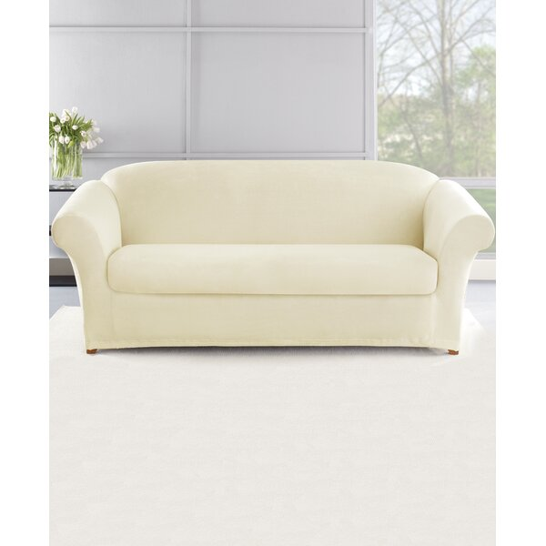 Stretch Plush 2 Piece Sofa Slipcover Set By Sure Fit