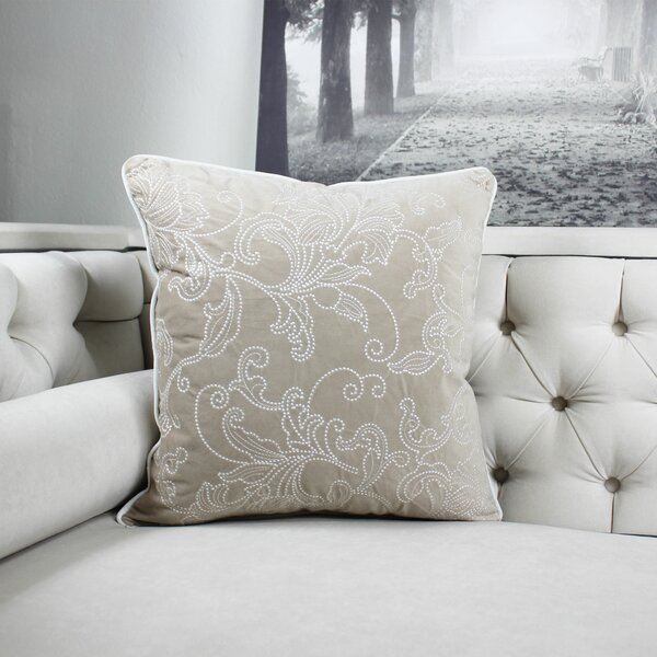 Faisan Embroidery Indoor/Outdoor Throw Pillow by Canora Grey