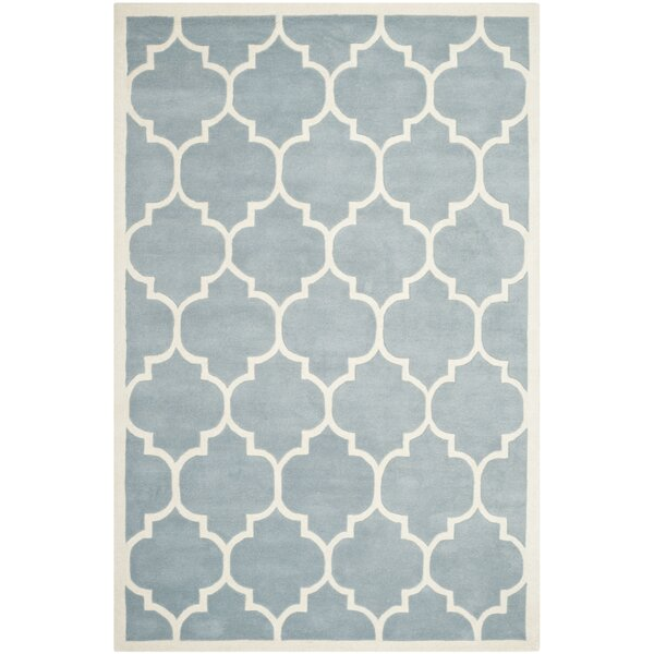 Wilkin Blue Moroccan Area Rug by Wrought Studio