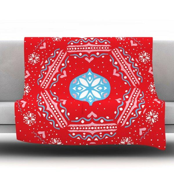 Snow Joy by Miranda Mol Fleece Throw Blanket by KESS InHouse