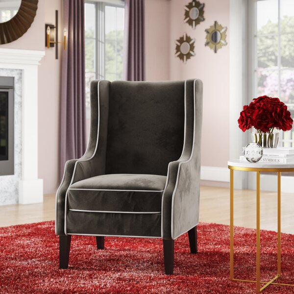 Dowland Wingback Chair by Everly Quinn
