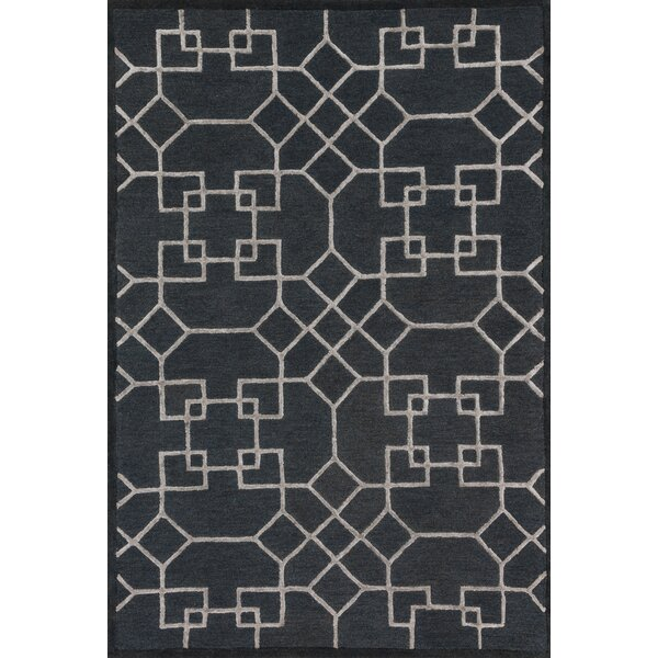 Kirkbride Charcoal/Silver Area Rug by Charlton Home