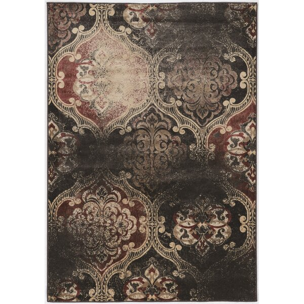 Pasho Beige/Black/Brown Area Rug by Bungalow Rose