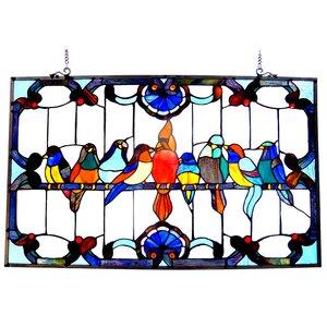 Beley Gathering Birds Window Panel