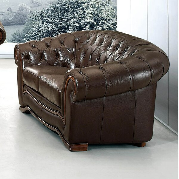 Low Priced Barkell Leather Loveseat by Canora Grey by Canora Grey