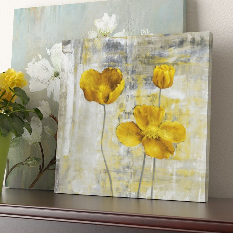 Three posts yellow flowers ii painting print on canvas reviews yellow flowers ii painting print on canvas mightylinksfo