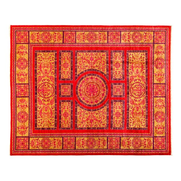 One-of-a-Kind Eclectic Hand-Knotted Red Area Rug by Darya Rugs