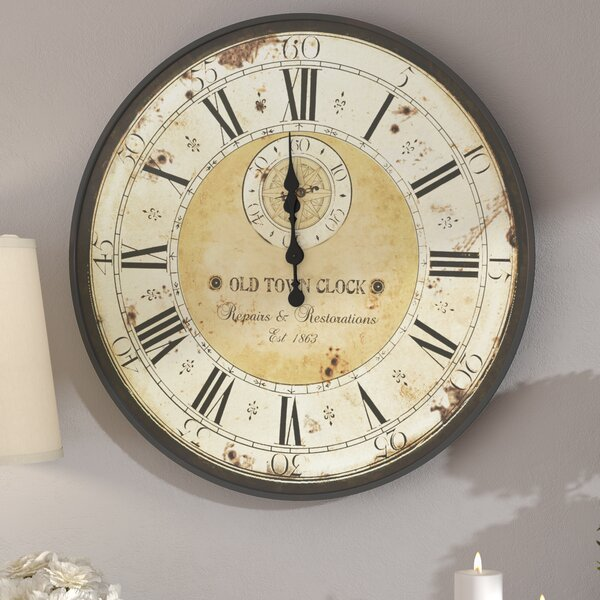 Oversized Haverstraw 32 Wall Clock by Fleur De Lis Living