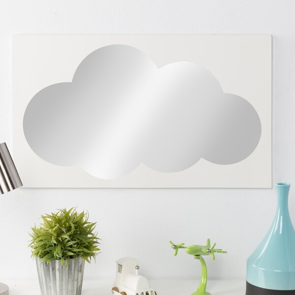 Dunnygarran Cloud Icon Wall Accent Mirror by Zoomie Kids