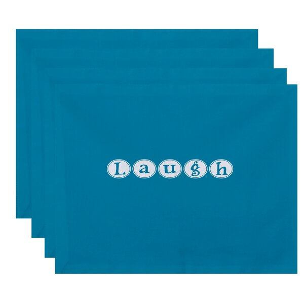 Milner Laugh Print Placemat (Set of 4) by Latitude Run