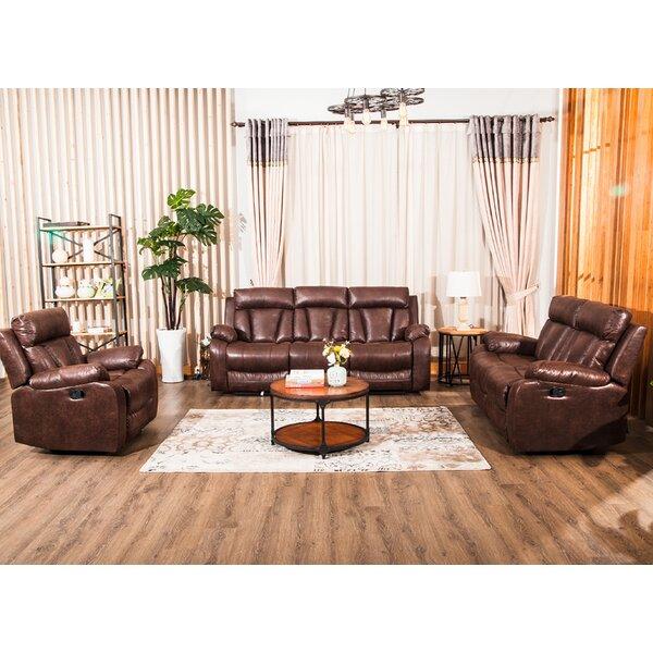 Review Etkin 3 Piece Reclining Living Room Set