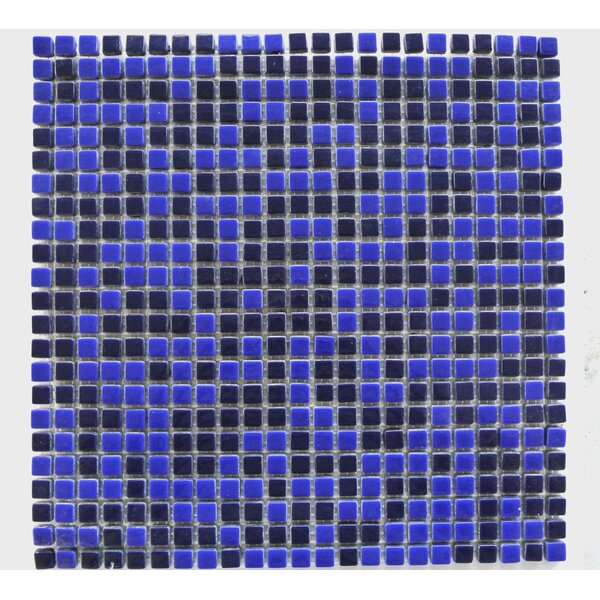 Full Body 0.5 x 0.5 Glass Mosaic Tile in Black/Blue by Abolos