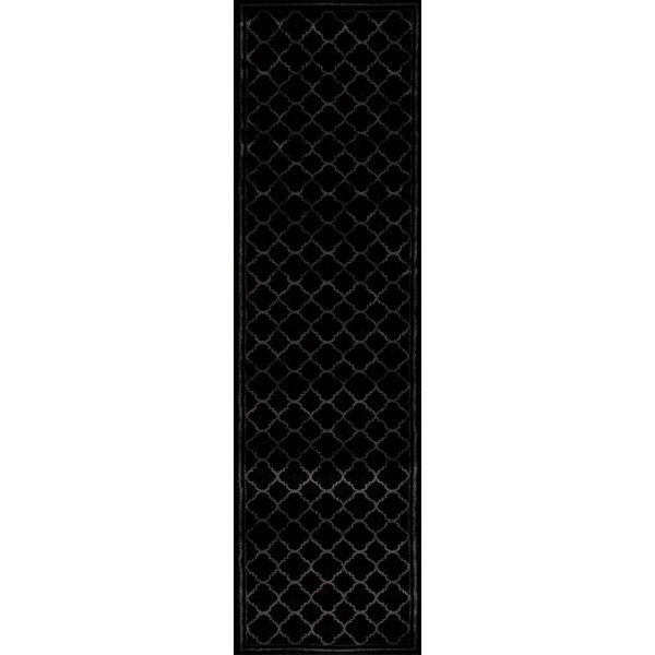Ellerswick Trellis Contemporary Modern Design Black Area Rug by Andover Mills