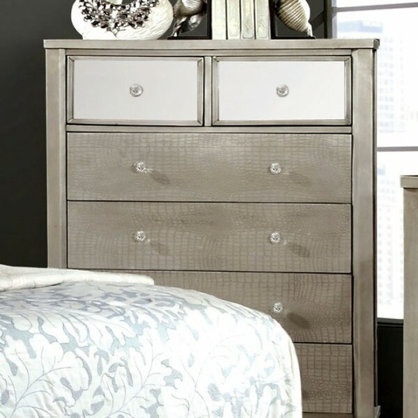 Claridge Wooden 6 Drawer Chest By World Menagerie