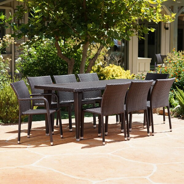 Kaila Outdoor 9 Piece Dining Set by Williston Forge