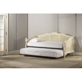 Coles Caneback Wood Twin Daybed with Trundle