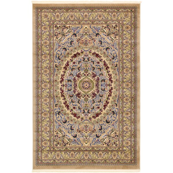 Altadena Light Brown Area Rug by World Menagerie