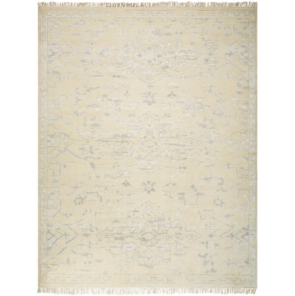 Haddou Hand-Knotted Ivory Area Rug by Bungalow Rose