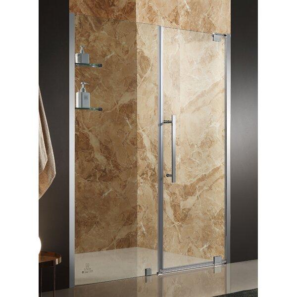 Duke 48 x 72 Pivot Semi-Frameless Shower Door by ANZZI