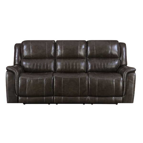 #2 Guineau Leather Reclining Sofa By Red Barrel Studio Bargain
