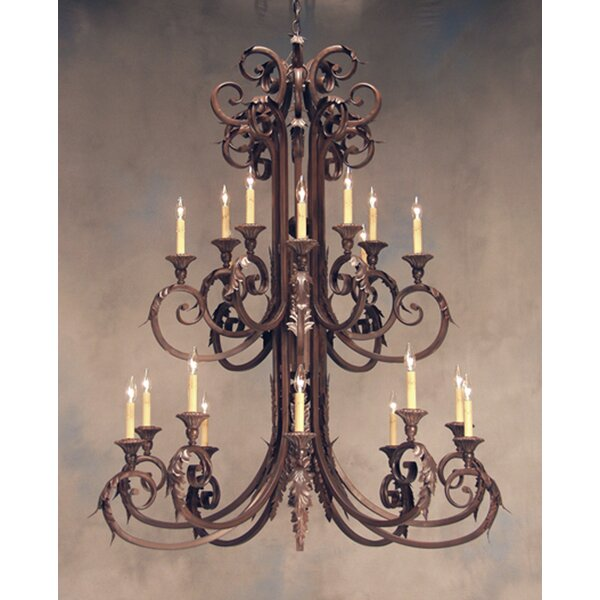 Serratina 20-Light Candle Style Tiered Chandelier by 2nd Ave Design 2nd Ave Design