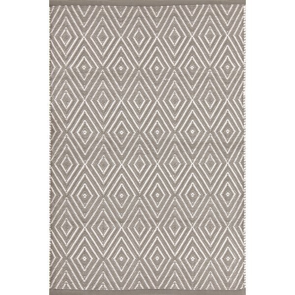 Diamond Hand-Woven Gray Indoor/Outdoor Area Rug by Dash and Albert Rugs