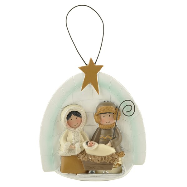 Resin Orn Letter Igloo Figurine with Nativity by The Holiday Aisle