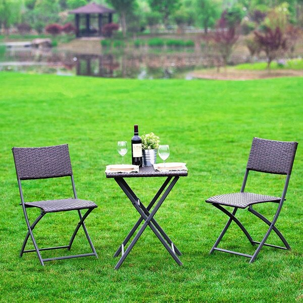 Khorn 3 Piece Bistro Set by Red Barrel Studio