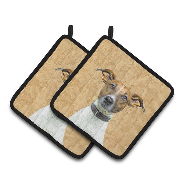 Jack Russell Terrier Potholder (Set of 2) by Caroline's Treasures