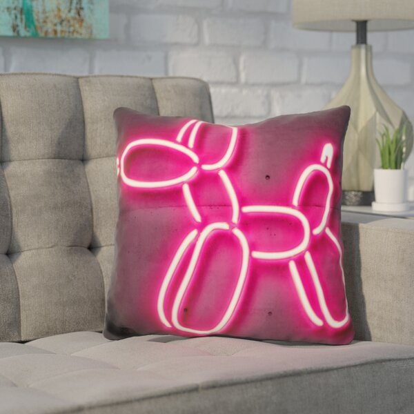 Kennedy Baloon Dog Throw Pillow by Wrought Studio