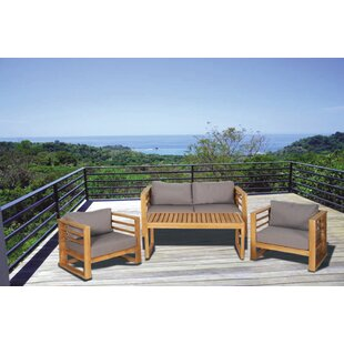 3 4 Person Teak Patio Conversation Sets You Ll Love In 2021 Wayfair