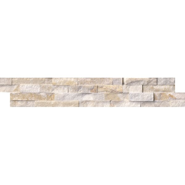 6 x 24 Quartzite Splitface in White/Gold by MSI
