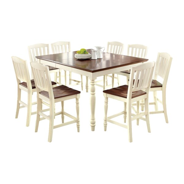 Laureaus 9 Piece Extendable Dining Set by Hokku Designs