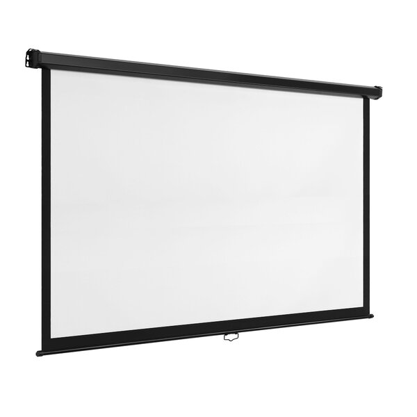 White Manual Projection Screen By VonHaus
