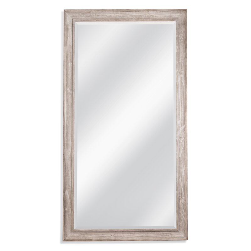 August Grove White Wash Leaner Full Length Mirror & Reviews | Wayfair