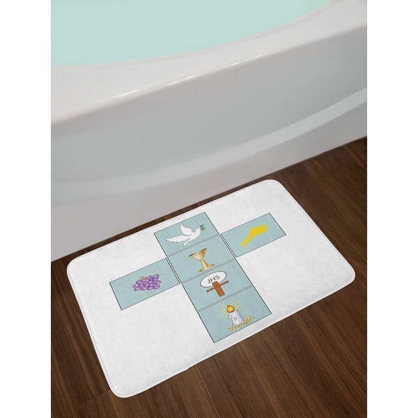 Greeting Welcoming Image Bath Rug by East Urban Home