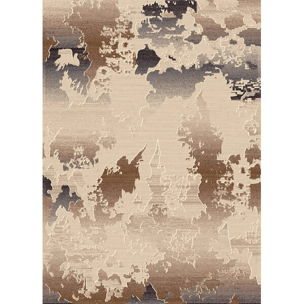 Bridgeview Cream Abstract Rug by World Menagerie
