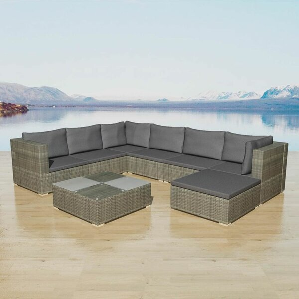 Stevenage Garden 8 Piece Sectional Seating Group with Cushions by Ivy Bronx